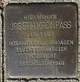 Stolperstein Billhorner Röhrendamm 147 (Joseph Kronpass) in Hamburg-Rothenburgsort.JPG