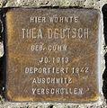 Stolperstein Blücherstr 61b (Kreuzb) Thea Deutsch.jpg
