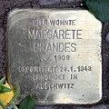 Stolperstein Bleibtreustr 17 (Charl) Margarete Brandes.jpg