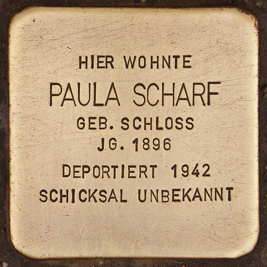 Stolperstein für Paula Scharf (Deggendorf).jpg