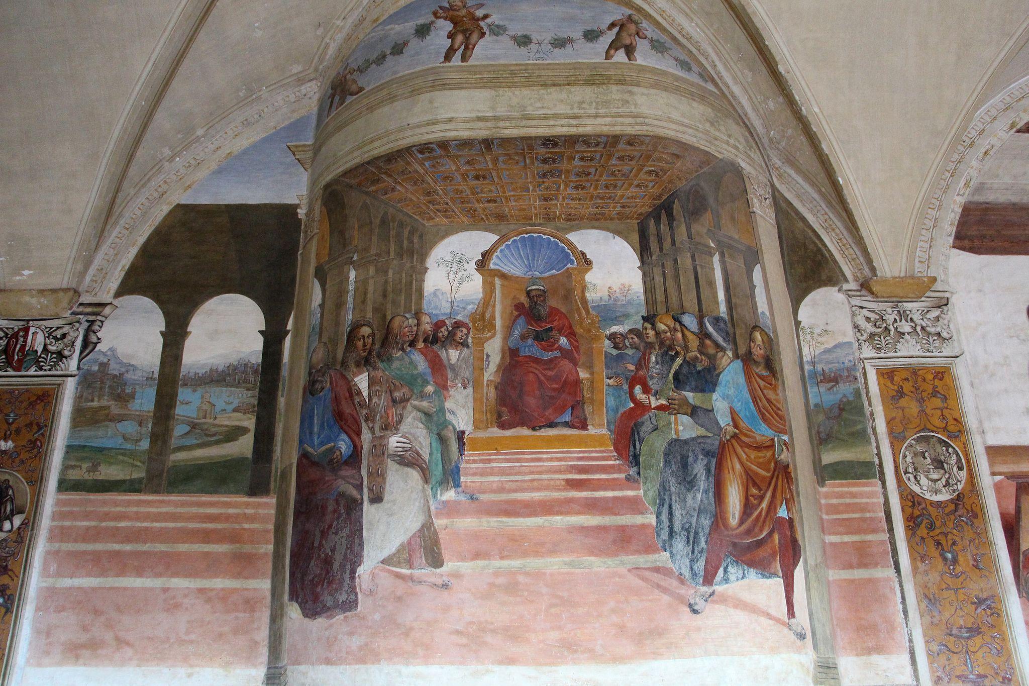 Storie di s. benedetto, 02 sodoma - Come Benedetto abbandona la scuola di roma 01