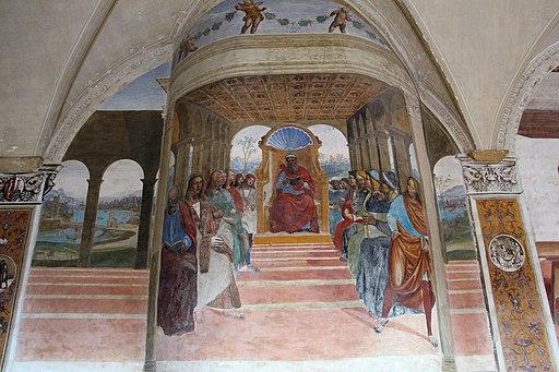 Il Sodoma, Storie di san BBenedetto, Come Benedetto abbandona la scuola di Roma