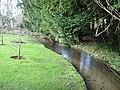 Stream at the bottom of the garden - geograph.org.uk - 318705.jpg