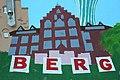 Stromkasten Nr 586, Nordergraben, Mit Flensburg-Motiven Nordetor, Rathaus, Wasserturm, Auguste-Viktoria-Schule sowie eine Maus und Museumsberg, Bild 13.JPG