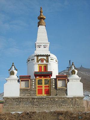 Religion in Mongolia - Stupa of Dambadarjaalin Monastery in Ulaanbaatar.
