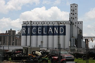 Riceland grain storage in Stuttgart Stuttgart, Arkansas 001.jpg