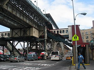 Manhattanville, Manhattan - Image: Subway elevated 2