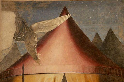 Piero della Francesca | Storie della Vera Croce, il Sogno di Costantino (particolare)
