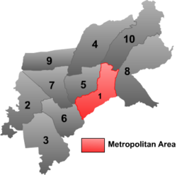 Beilin District (red) in Suihua City