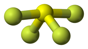 Sulfur tetrafluoride - Image: Sulfur tetrafluoride 3D balls