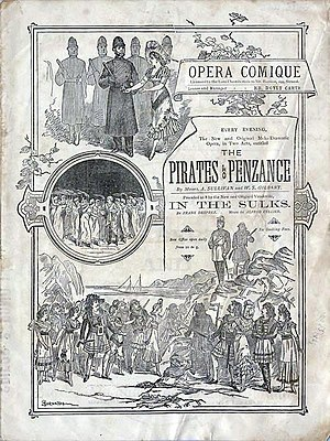 In the Sulks - 1881 programme cover