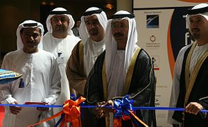 Sultan Ahmed bin Sulayem - Sulayem cutting the ribbon at the opening of Retail City 2007