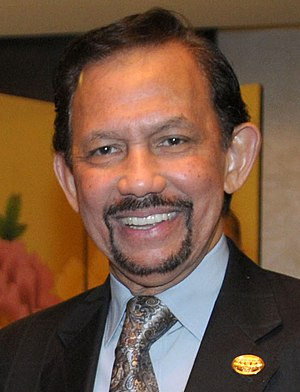 Hassanal Bolkiah - Image: Sultan of Brunei Hassanal Bolkiah (cropped)