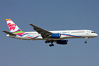 Sunday Airlines Boeing 757-200 on finals at Antalya.jpg