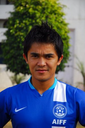 Bengaluru FC - Sunil Chhetri, the first captain of Bengaluru FC.
