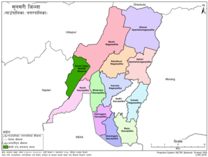 Sunsari District with local level body
