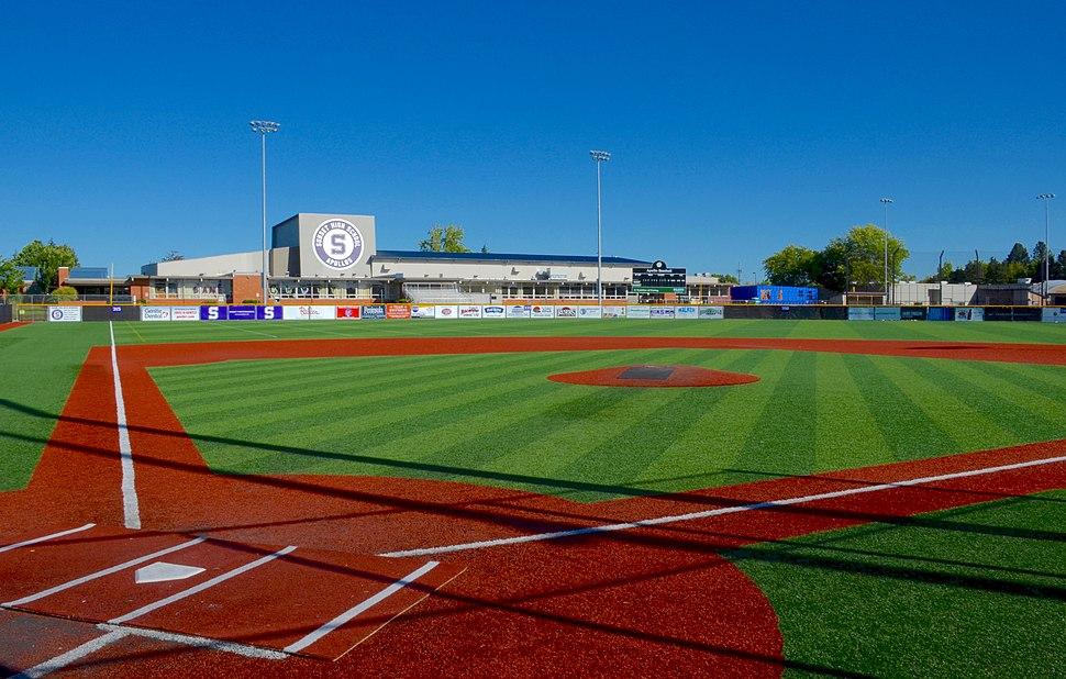 Sunset HS artificial-turf baseball field - Beaverton, Oregon (2016)