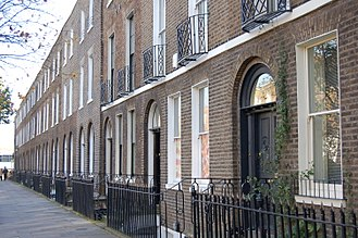 Homerton - Sutton Place, Grade II listed terrace 1790–1806 in Homerton. (November 2005)
