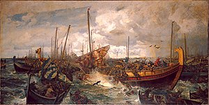 Battle of Svolder - The Battle of Svolder, by Otto Sinding