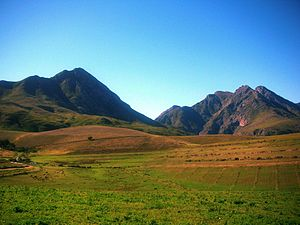 Langeberg - Landscape of the Langeberg Range near Robertson
