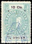 Switzerland Lucerne 1897 revenue 6 10c - 74a - E 11 97.jpg