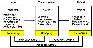 Organization development - Figure 1: Systems Model of Action-Research Process