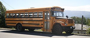 Corbeil Bus Corporation - Early 2000s Corbeil school bus in British Columbia, Canada