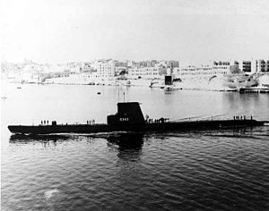 Mapiro (SS-376), as TCG Piri Reis (S-343), after transfer to Turkey.