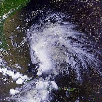 1988 Atlantic hurricane season - Image: TD 4 12 aug 1988 2024Z