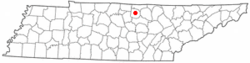 Location of Gainesboro, Tennessee