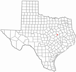 Location of Kosse, Texas