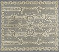 Tafelkleed of sprei van applicatiekant met strepen en bloeiende tak en met oudroze voering, BK-1979-250-B-1.jpg