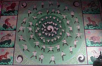 Tai chi - Painting in ''Chenjiagou'', illustrating taolu according to the Chen style of tàijíquán.