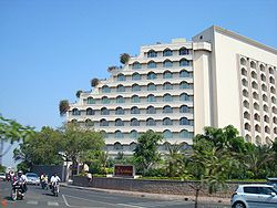 Hotel Taj Krishna, a popular landmark of the area