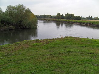 The confluence of the Tame and the River Trent