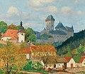 Tavík František Šimon - View of Karlštejn Castle near Prague.jpg
