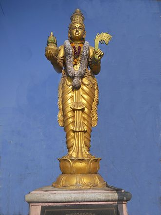 Telugu Talli Bomma (statue of Mother Telugu), the personification of Telugu language in Andhra Pradesh. Telugu talli bomma.JPG