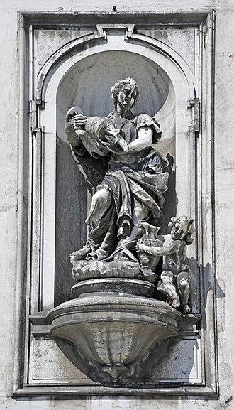 Alvise Tagliapietra - Tagliapietra's Temperance, facade of the Gesuati, Venice