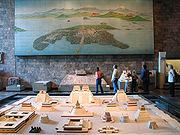 Modell und Bild von Tenochtitlán zur Zeit der spanischen Eroberung im Anthropologischen Museum