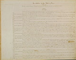 Constitution of Texas document that describes the structure and function of the government of Texas.