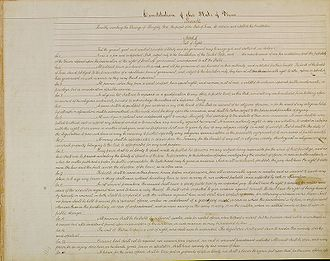 Constitution of Texas - The Texas Constitution of 1876.