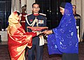 The Ambassador of Somalia to India, MS. Ebyan Mahamed Salah presented her Credentials to the President, Smt. Pratibha Devisingh Patil, at Rashtrapati Bhavan in New Delhi on December 18, 2007.jpg