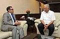 The Ambassador of the Republic of Turkey in India, Dr Burak Akcapar calling on the Union Minister for Civil Aviation, Shri Ashok Gajapathi Raju Pusapati, in New Delhi on June 16, 2014.jpg