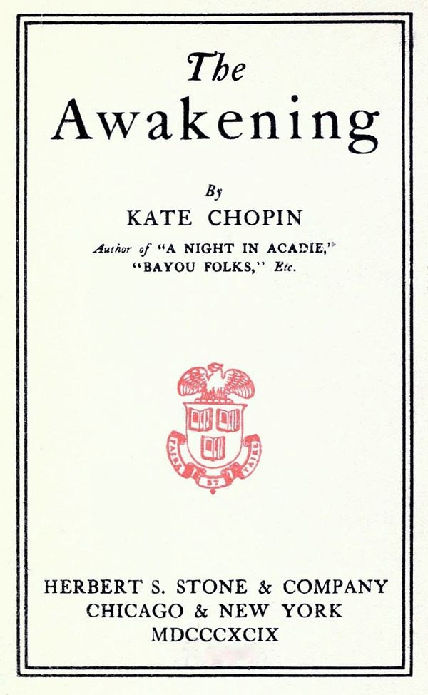 a short biography of kate chopin and an analysis of her novel the awakening Kate chopin began writing in 1888, at the age of thirty-seven even her early work is thus informed by a range of experience that shaped the thoughts, feelings, and actions of a host of convincing characters.