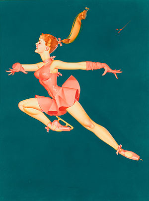 Ice Capades - Promotional illustration for the 1965 Ice Capades