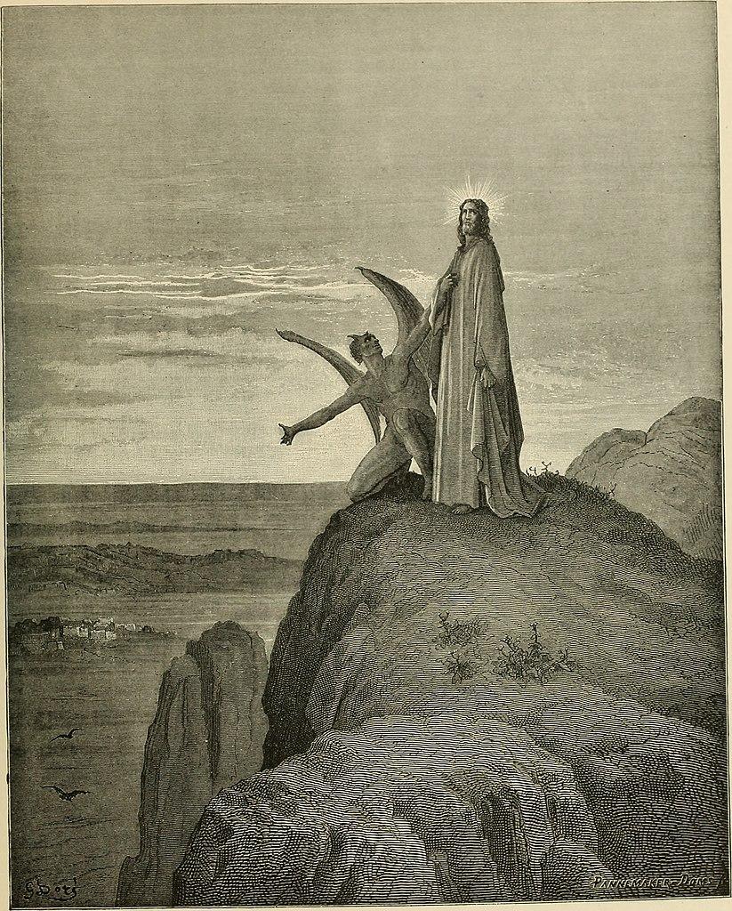 마귀의 유혹 (귀스타브 도레, Gustave Dore, 1866년)