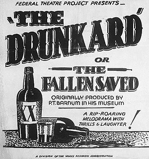 The Drunkard - Poster for a 1938 production by the Federal Theatre Project