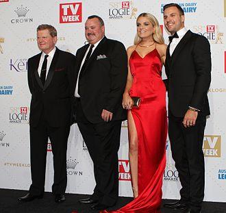 Paul Vautin - Paul Vautin (left) at the 2016 Logie Awards