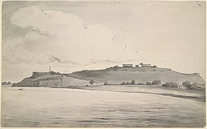 Chunar Fort - Painting of the fort (1803).