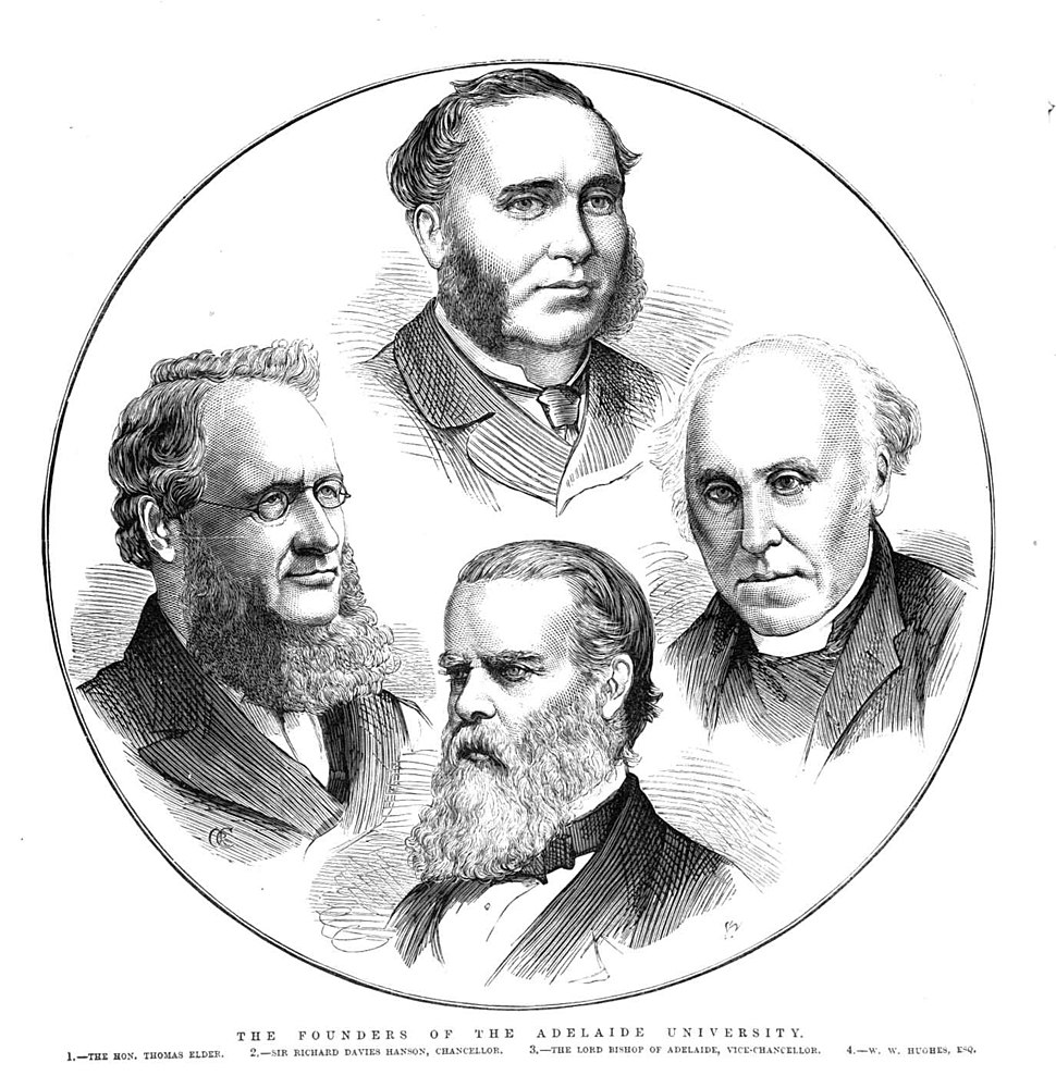 The Founders Of The Adelaide University by Samuel Calvert - Illustrated Australian News (1875)